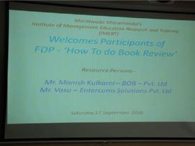 Fdp-How to do Book Review By Mr. Vasu